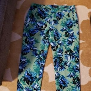 Banana Republic floral ankle length pants